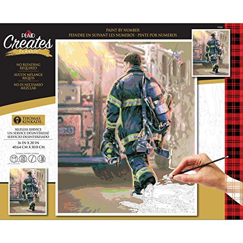 "Plaid Creates 17085 16"" x 20"" Selfless Service Thomas Kinkade Paint by # Kits, Variety"