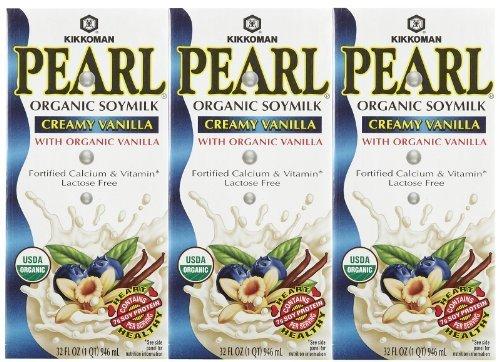 Kikkoman Organic Soy Milk - Pearl Creamy Vanilla - 32 oz - 3 pk by Kikkoman