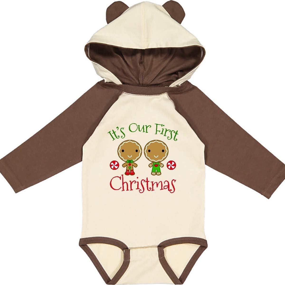 inktastic Twins Boys 1st Christmas Long Sleeve Creeper