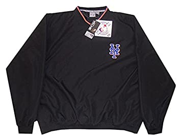 Amazon.com : New York Mets MLB Mens Black Windbreaker Pullover ...