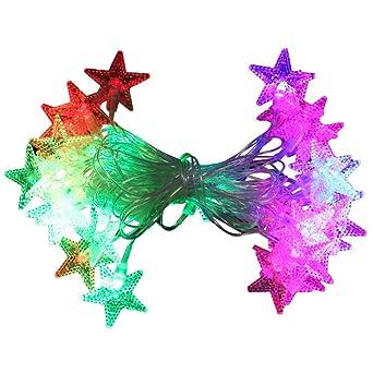 YLSMN Luces de pentagrama de linterna led Luces de decoración ...