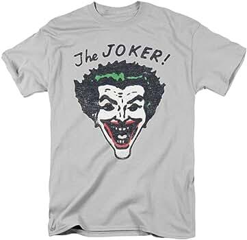 Retro Batman Joker Mens Camisa Manga Corta (Plata, XXX-Grande): Amazon.es: Ropa y accesorios