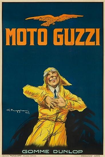 Amazon.com: Moto Guzzi Vintage Poster (artist: Giorgio Muggiani ...