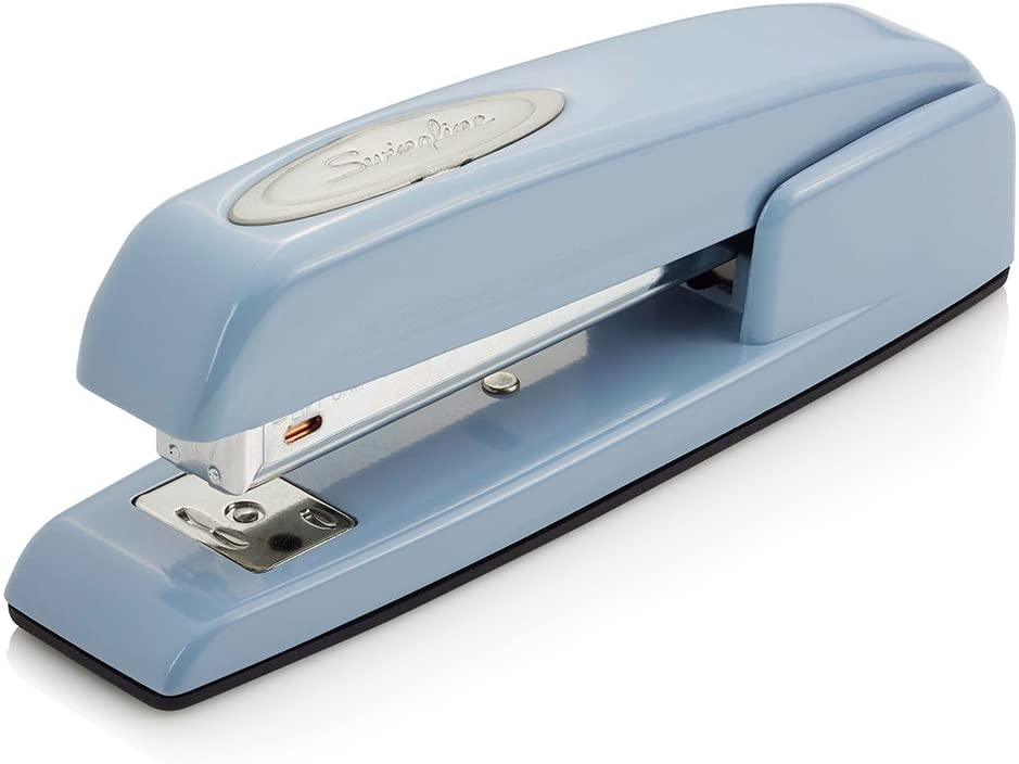 Swingline Stapler, 747 Iconic Desktop Stapler, 25 Sheet Capacity, Sky Blue (74722)
