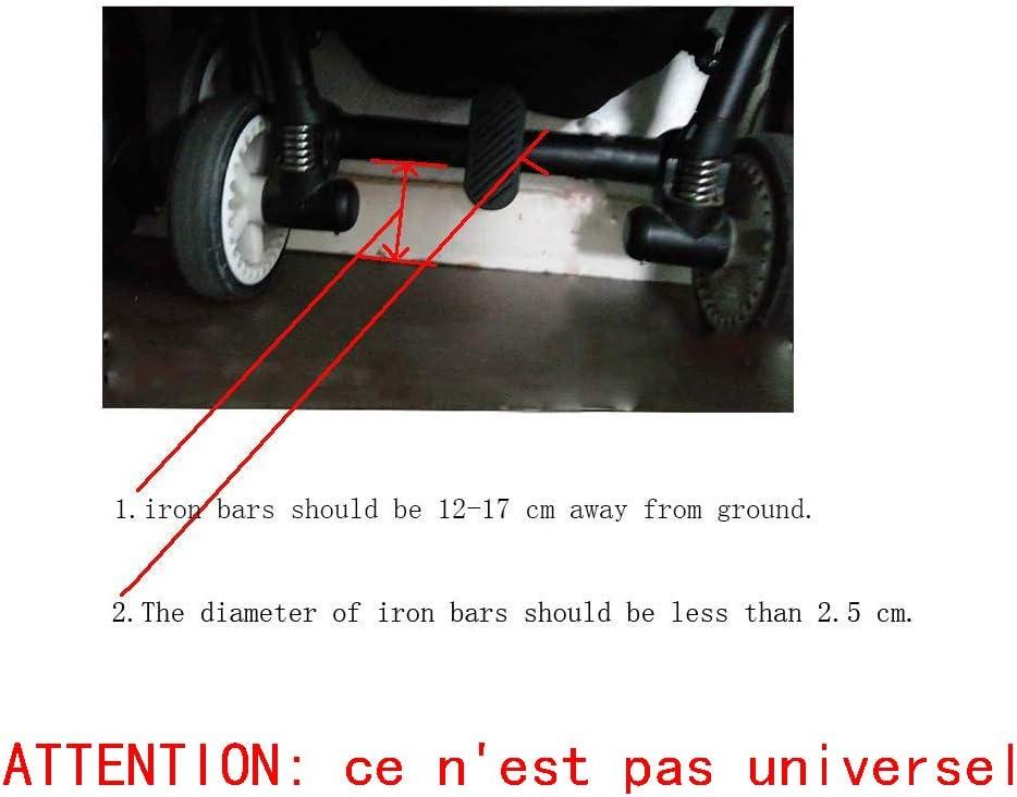 Yajiun Marche Pied Poussette Planche A Roulette Poussette avec Si/ège,Si/ège Amovible Et Assemblable,35x26cm