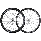 ICAN Carbon Clincher Wheelset 38mm Front 50mm Rear Rim Sapim CX-Ray Spokes Straight Pull Hub Only 1410g/set