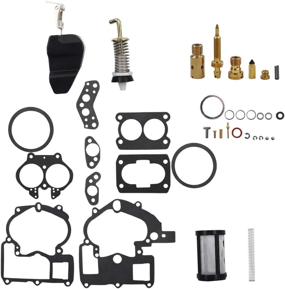 WFLNHB Carburetor 3302-804844002 3.0 4.3 5.0 Rebuild Kit for Mercruiser Marine 2Barrel