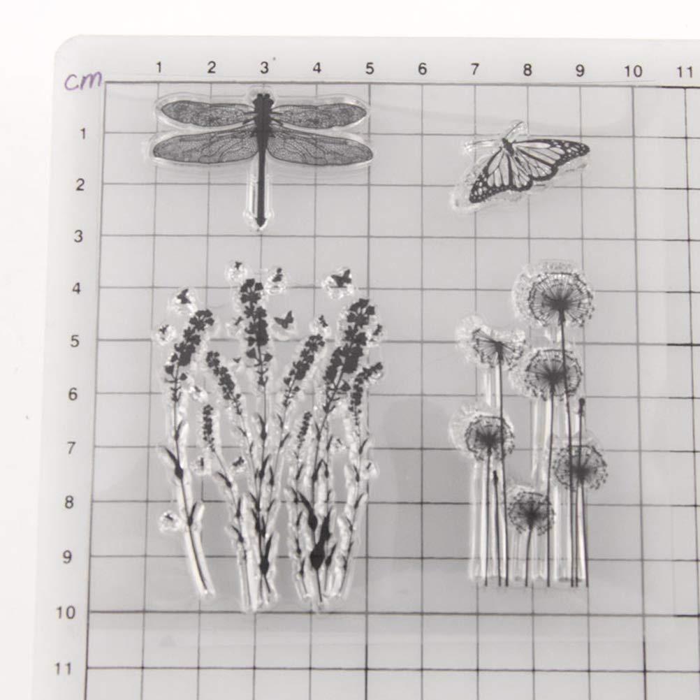 T1300 Healifty Klar Stempel Transparent Siegelmarken f/ür DIY Scrapbooking Handwerkskarte Fotoalbum Tagebuch Dekoration