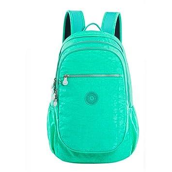 Gran capacidad 15.6 pulgadas mochila para portátil mochila de lona a prueba de agua para mujeres mochilas para adolescentes bigsize green: Amazon.es: ...