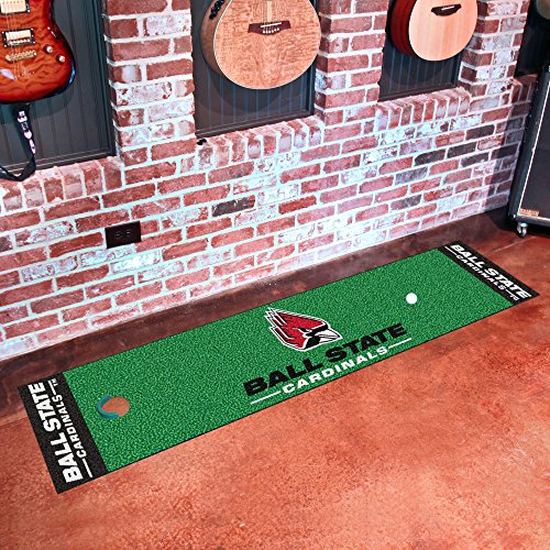 FANMATS 18699 NCAA Ball State University Putting Green Mat
