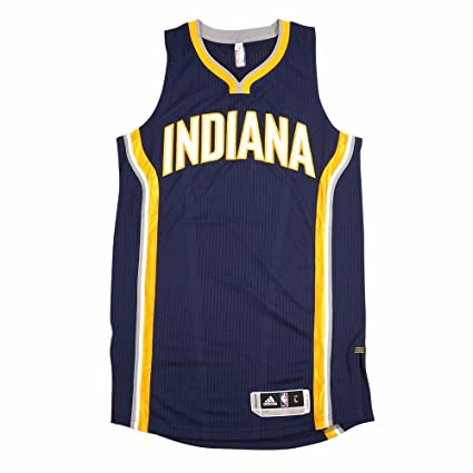 adidas Indiana Pacers NBA Navy Blue NBA Authentic On-Court Team Issued Pro  Cut Jersey 7d5d5d91e