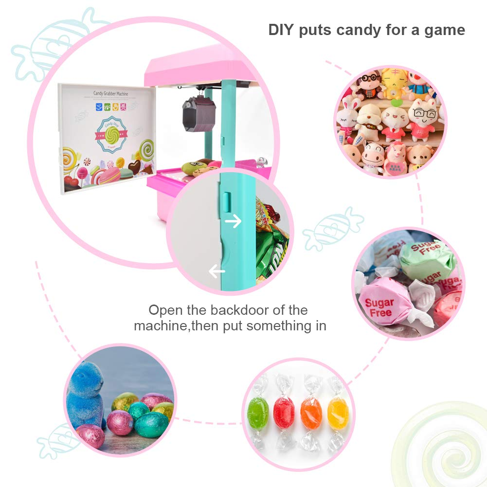 The Toy Grabber Claw Machine for Kids,Indoor Arcade Gams, Ideal for Use with Small Toys / Candy,Features LED Lights and Sound Effects, Mini Candy Claw Toys for 1 2 3 4 5 Year Old Boys Girls Best Gift by Toyk (Image #5)
