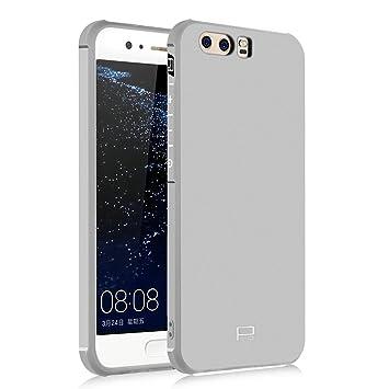 Hevaka Blade Huawei P10 Funda - Suave Silicona TPU Carcasa Smart Case Cover Para Huawei P10 - Gris
