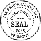 Corporate Seal Embosser with Year - Custom Corporate Seal Embosser
