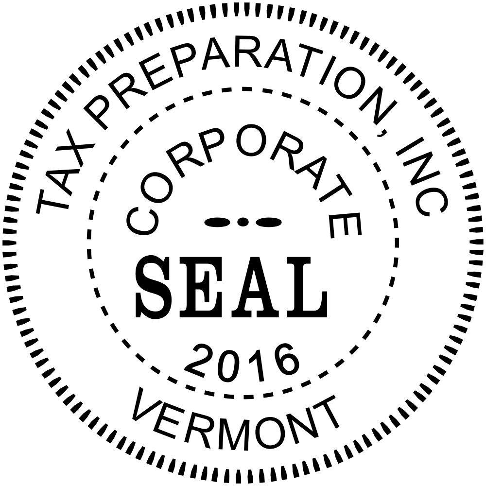 Corporate Seal Embosser with Year - Custom Corporate Seal Embosser