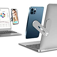 Side Mount Clip on Monitor Magnetic Laptop Stand with Phone Holder Computer Expansion Bracket for Smartphone Fixed Flat…