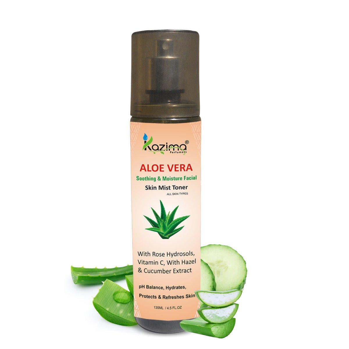 Aloe Vera Soothing & Moisture Facial Skin Mist Toner – (No Sulfate, No Parabens, No Xanthan, No Mineral Oil)
