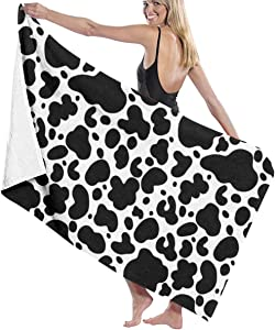"""Bath Towels Giraffe Skin Beach Holiday Super Absorbent Large Towel Blanket 31""""""""×51"""""""" for Toddler Swimming Shower"""