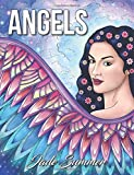 Angels: An Adult Coloring Book with Beautiful Christian Women, Relaxing Floral Designs, and Inspirational Religious Themes