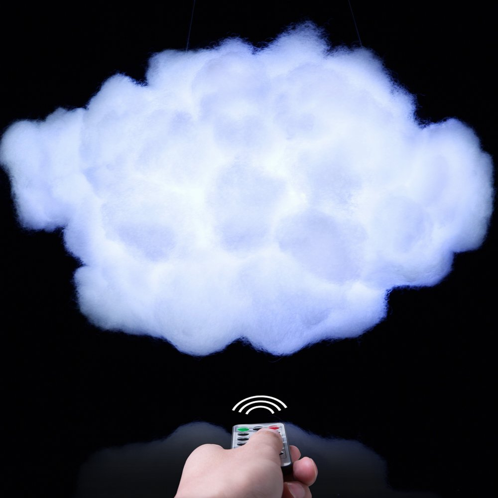 Proloso Handmade Cloud Light Diy Kit, Easy For Adults And Kids, Wireless Remote Control, Adjustable Brightness, 9 Modes, White Light, Cute Night Light In House And Coolest Choice On Facebook by Proloso
