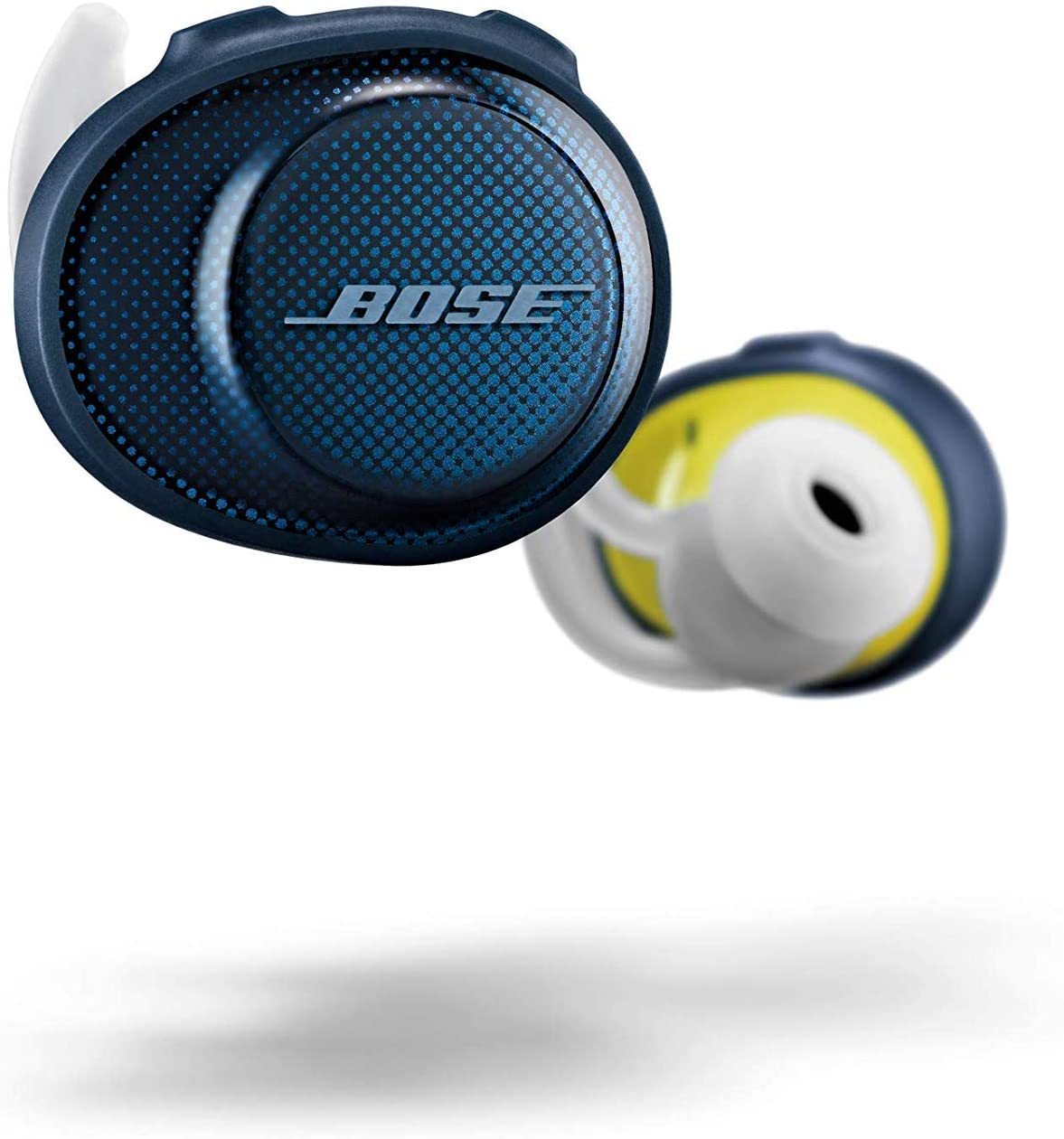 Bose SoundSport Free, True Wireless Earbuds, (Sweatproof Bluetooth Headphones for Workouts and Sports), Midnight Blue / Citron