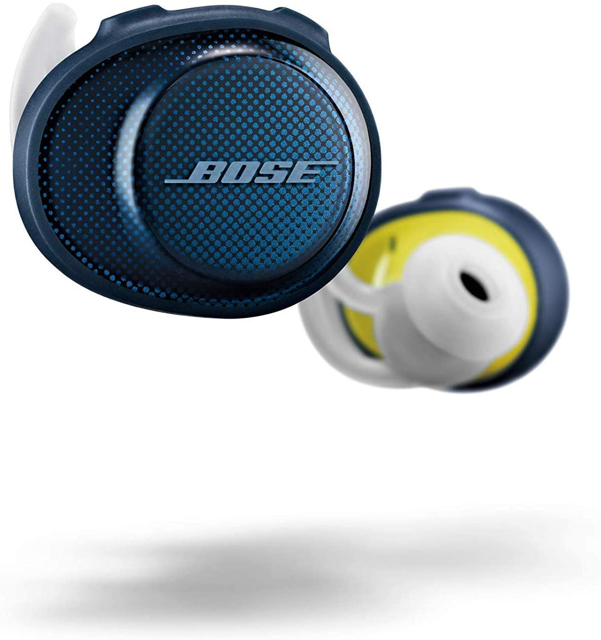 Bose SoundSport Free Auriculares intraurales inalámbricos, Bluetooth, Azul (Midnight Blue/Citron)