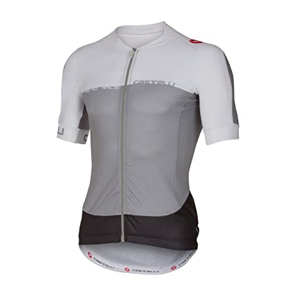 ec244c8d7 Castelli Aero Race 5.1 Full Zip Jersey - Men s Grey White Anthracite