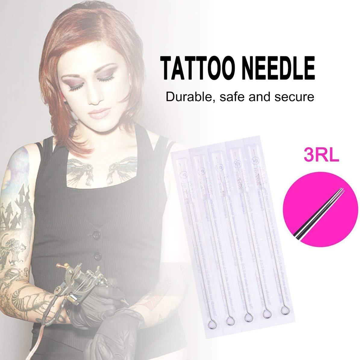 5 palos 3RL aguja de tatuaje Premium Tattoo Needles para DIY Hand ...