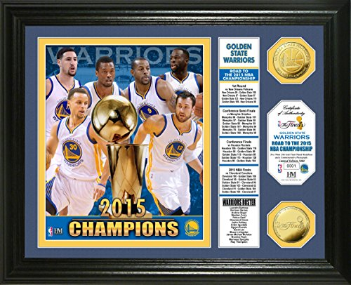 NBA Golden State Warriors 2015 Finals Champions ''Banner'' Photo Mint Gold Coin, 22'' x 15'' x 4'' by The Highland Mint