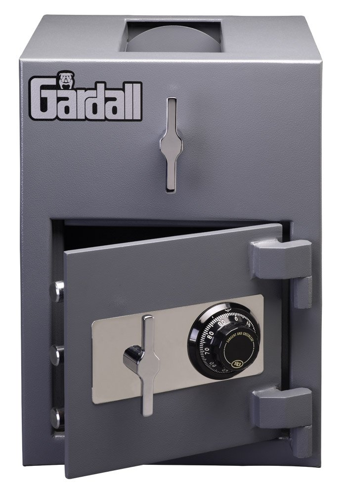 Gardall LCR2014-G-C Top Loading Commercial Light Duty Depository Safe w/ Mechanical Combination Lock Grey