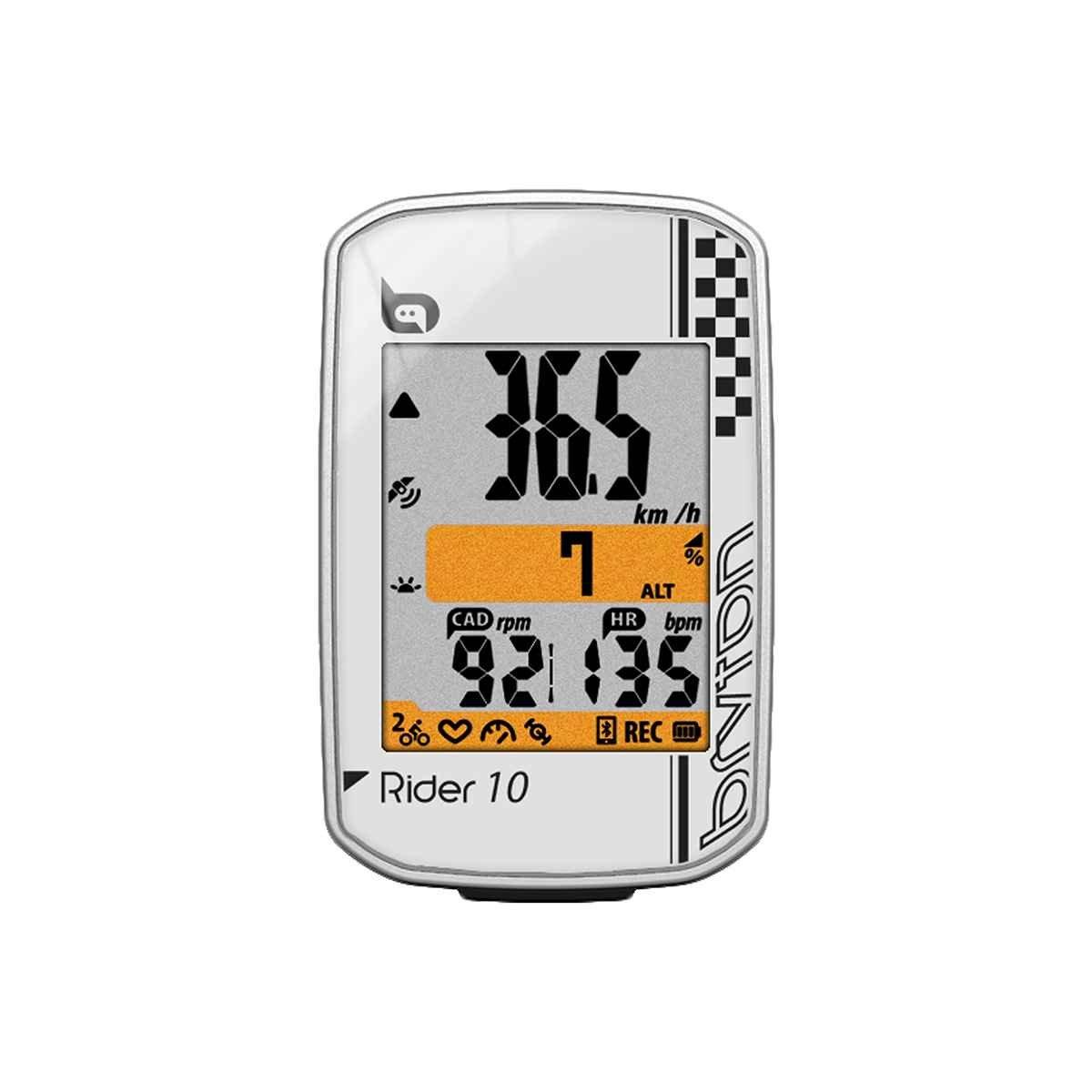 Bryton Rider 10 GPS Ordinateur de vé lo Rider 10C (white) - with Cadence ANT+/BLE
