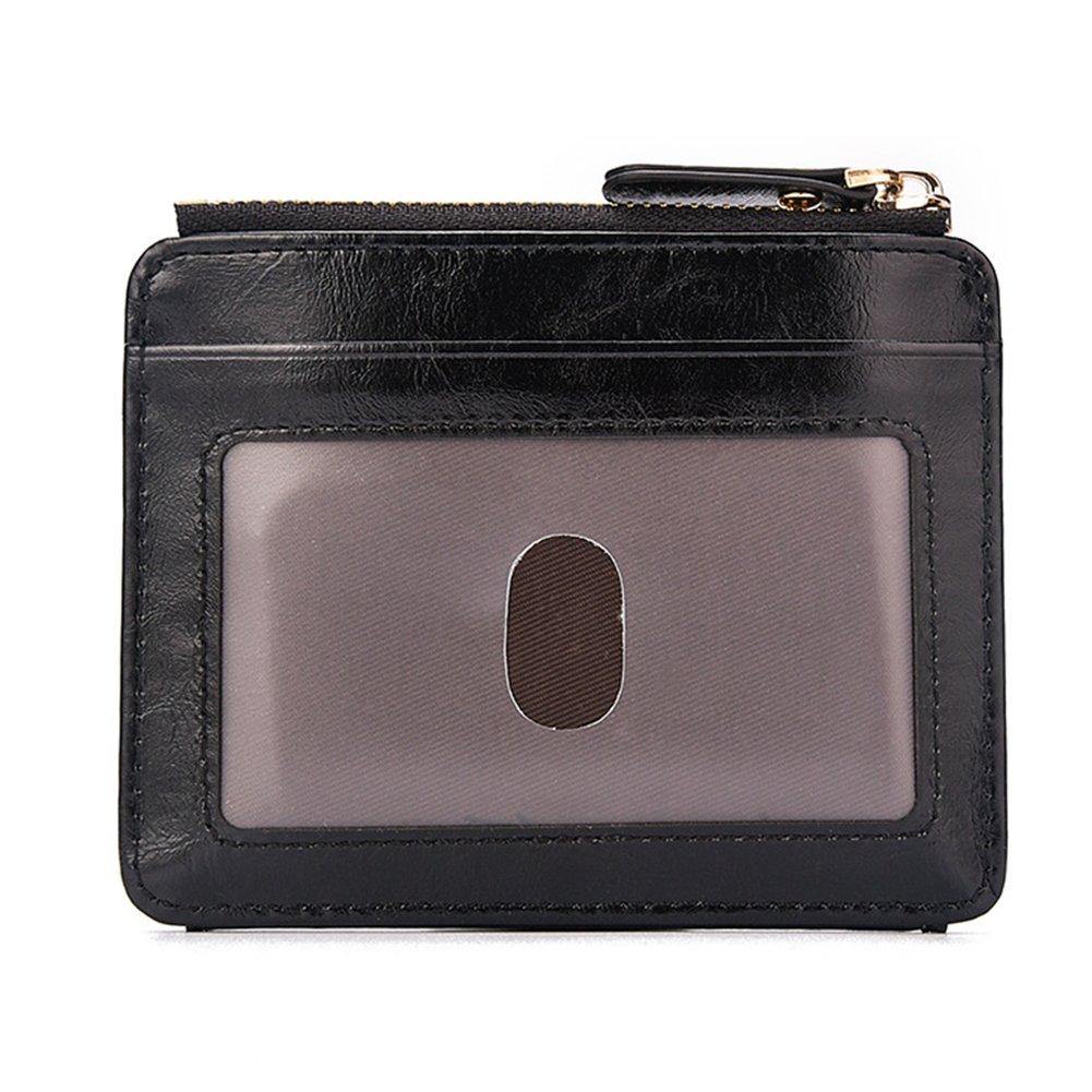 Academyus Retro Men Faux Leather Short Wallet Cash Card Organizer Mini Coin Purse Holder