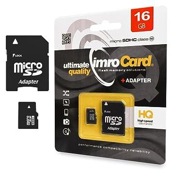 Tarjeta de memoria 16 GB Micro SD HC Class 10 UHS-I de 1 ...