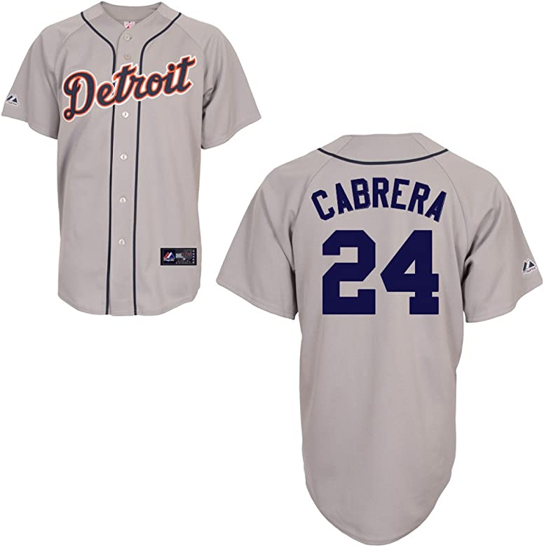 f076ca60 Amazon.com : MLB Detroit Tigers Miguel Cabrera Road Gray Replica ...