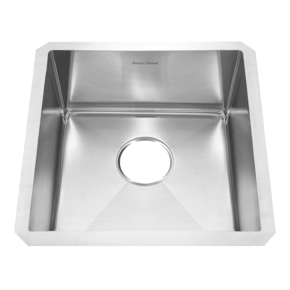 American Standard 12SB.171700.290 Prevoir Luxury Undermount 17-Inch Stainless Steel Single-Bowl Kitchen Sink, Brushed Satin