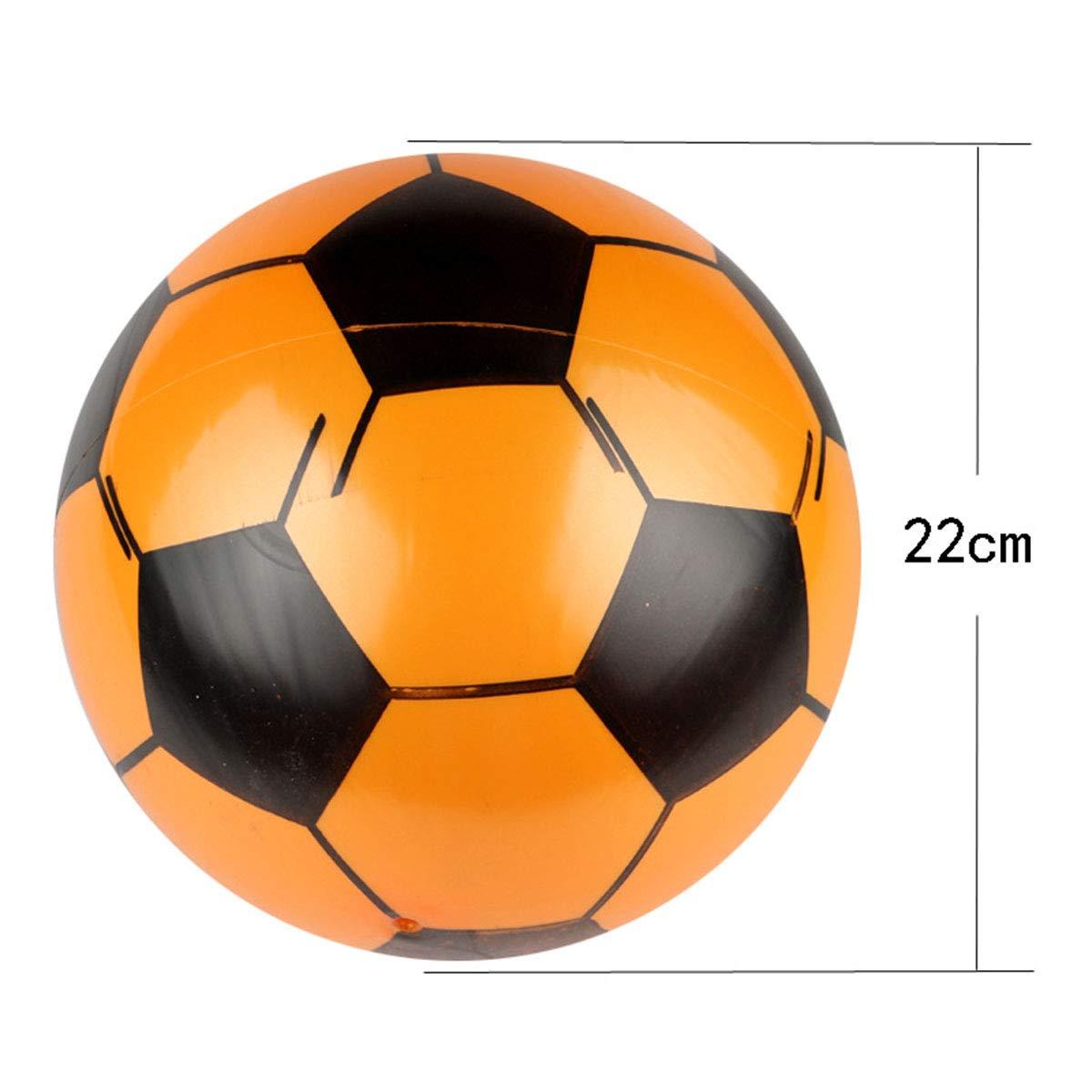 Amosfun 5 Pezzi gonfiabili palloni da Calcio per Bambini Giocattoli di Calcio bomboniere Forniture Decorazioni Set 9 Pollici Regalo di Compleanno di Natale per i Bambini Colore Casuale