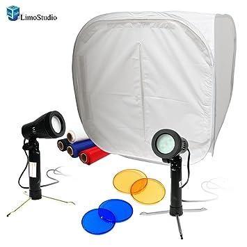 LimoStudio Table Top Studio 30u0026quot; Photo Light Box Tent  5500K 600 Lumen LED Lighting  sc 1 st  Amazon.com & Amazon.com : LimoStudio Table Top Studio 30