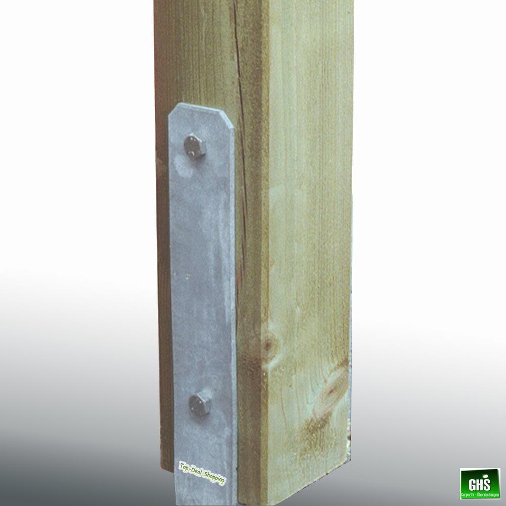 H-Anker f/ür 11 cm Pfosten mit Schrauben Betonanker