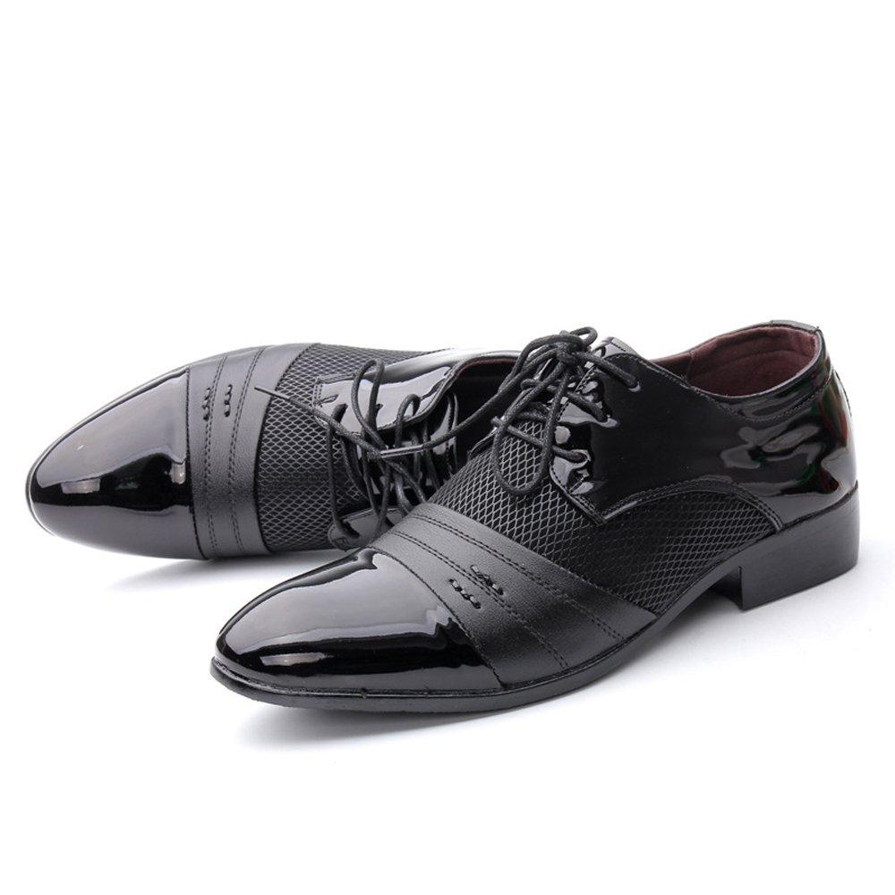 GBY Herren Business Schuhe Glatte PU Leder Splice Oberteil Lace Lace Lace Up Atmungsaktives Mesh Oxfords Mode Slipper  22a772