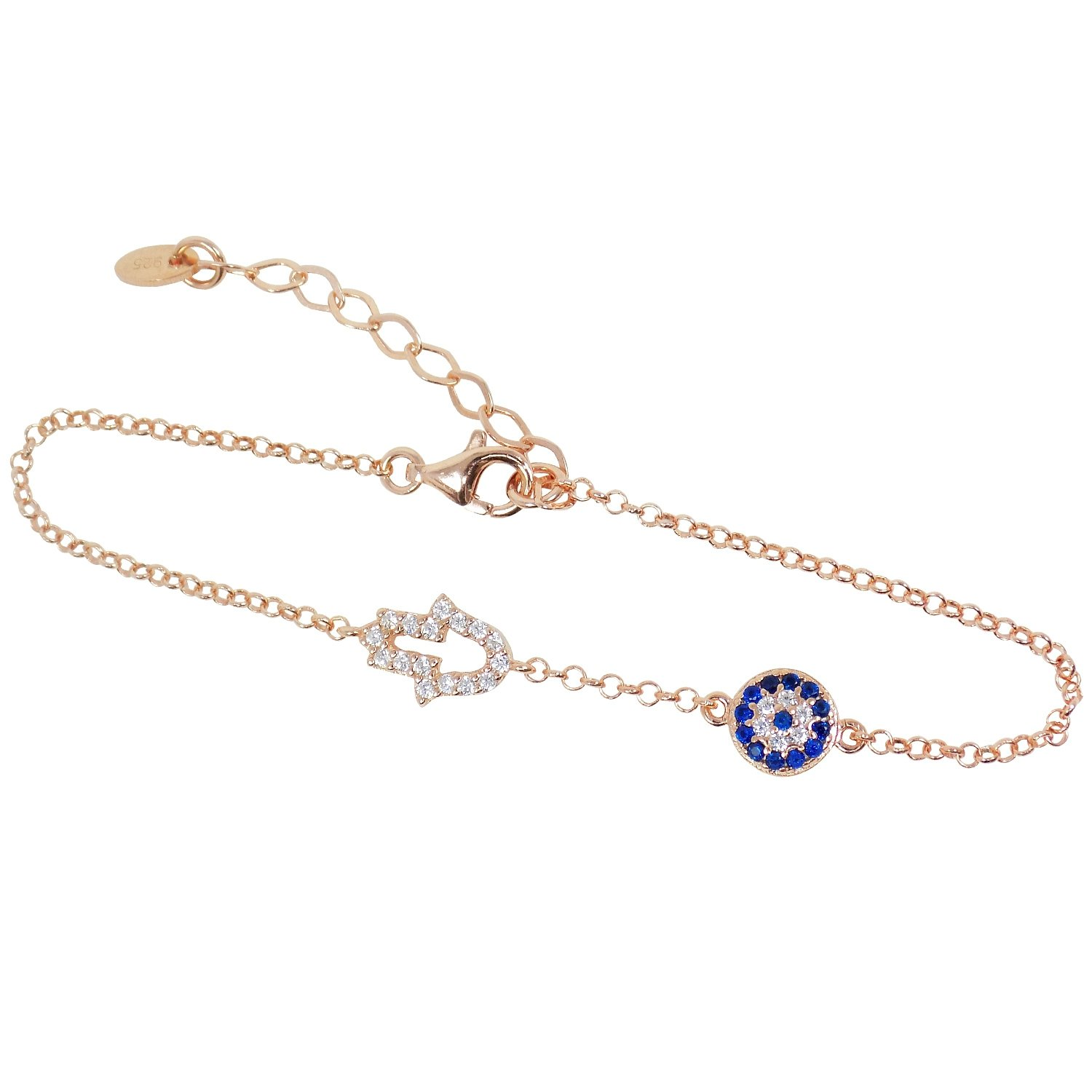 hamsa rose bracelet gold arjandas inicio jewels mini anil