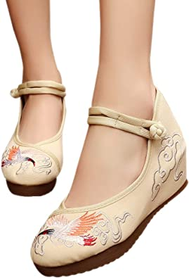 Chinese Lucky Bird Embroidered Women