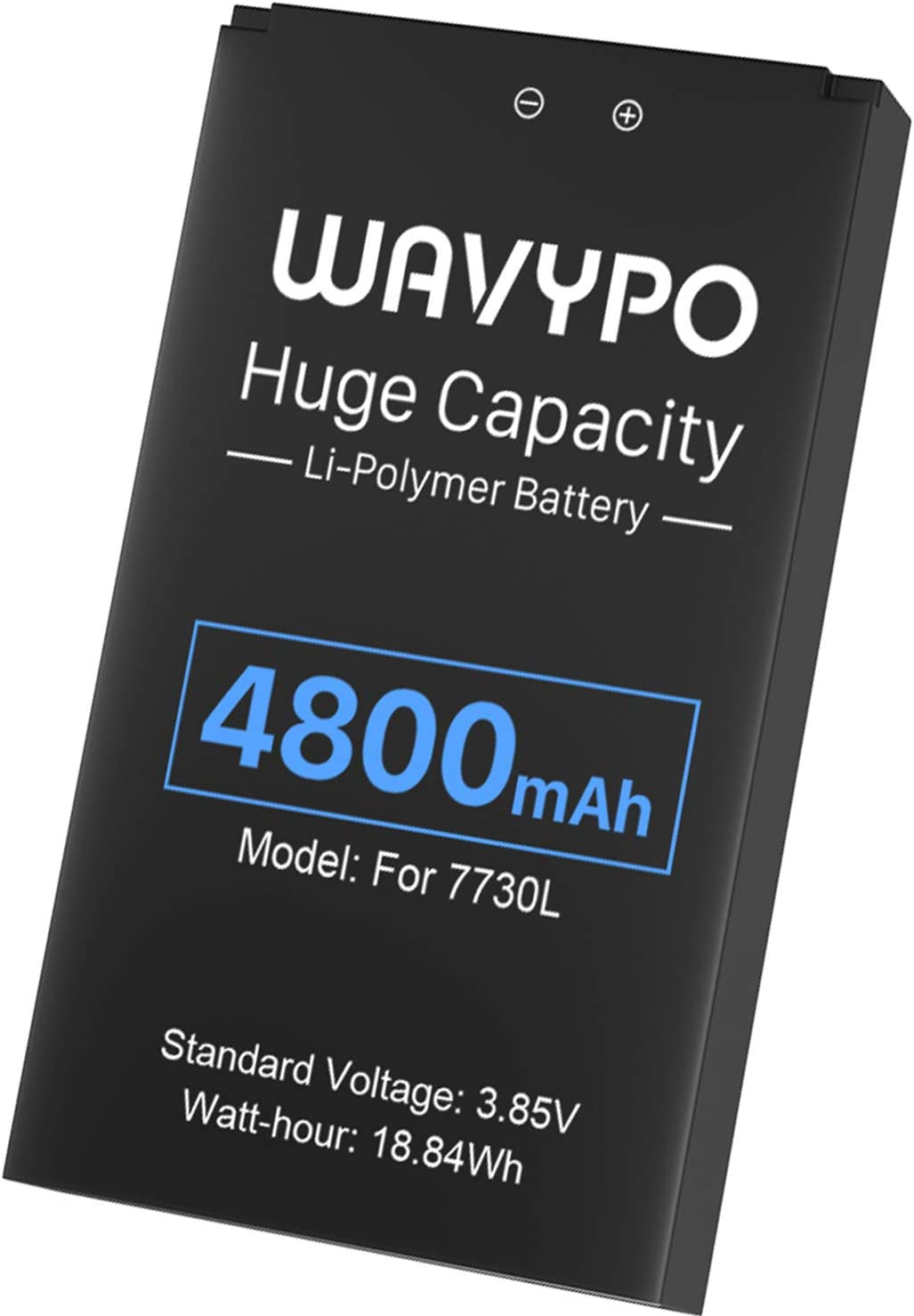 4800mAh Upgraded Mifi 7730L Battery, for Verizon Novatel Jetpack MiFi 7730L/ 8800L Mobile Hotspot P/N: 40123117 Replacemet Battery Wavypo