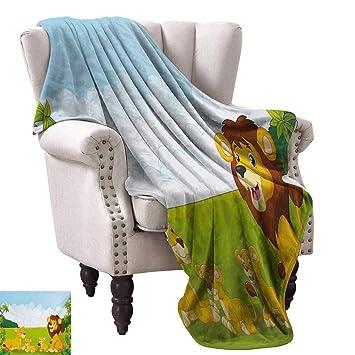 Amazon.com: Anyangeight Digital Printing Blanket,Cartoon ...