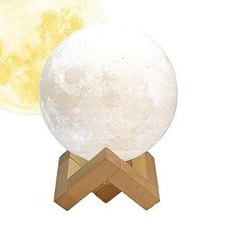 Flexdin 3d Mond Lampe 15 Cm 5 9 Zoll Usb Led Nachtlicht Weiss