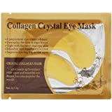 ULAKY Crystal 24K Gold Powder Gel Collagen Eye Masks Sheet Beauty,10 Pcs