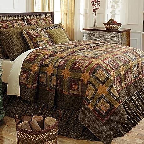 Tea Cabin Luxury King Quilt Bundle 6 Piece Set Set Contents 1 Luxury King Quilt 2 King Shams 1 King Bed Skirt 2 Euro Shams