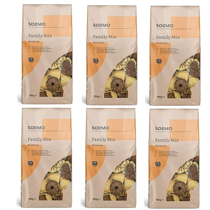 Marca Amazon - Solimo - Galletas Family Mix - 6 packs de 700g: Amazon.es: Alimentación y bebidas