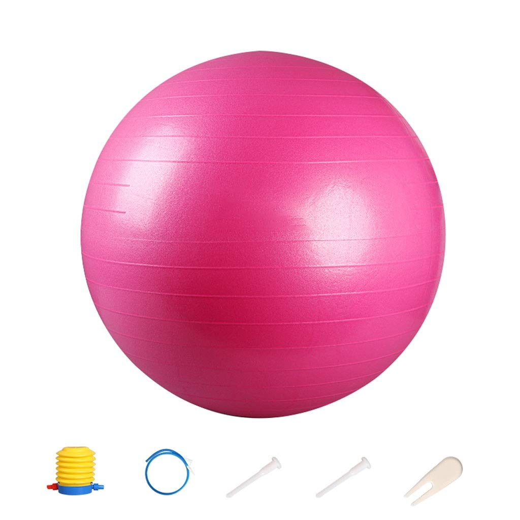 Exercise Ball,Anti-Slip & Anti-Burst for Safety. Ideal for Yoga, Pilates Or Birthing Therapy Gym Ball Core Training and Physical Therapy, Improves Balance (Color : Pink, Size : 65cm)