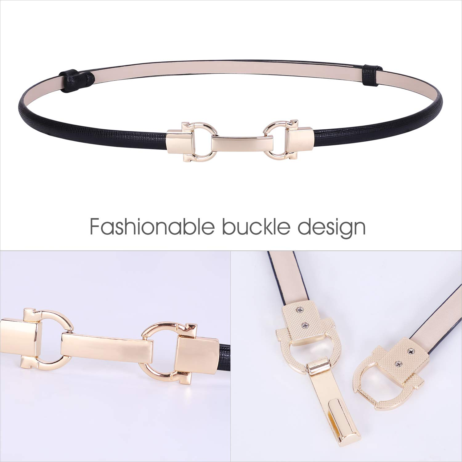 Women Skinny Belt for Dress Adjustable Ladies Girls Thin Waist Belt with 6 Colors by WHIPPY