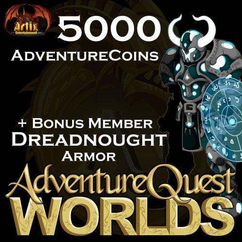 5,000 AdventureCoins Package: AdventureQuest Worlds [Instant Access]